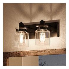 Luxury Farmhouse Bath Vanity Light, Bridgeport Series, Olde Bronze