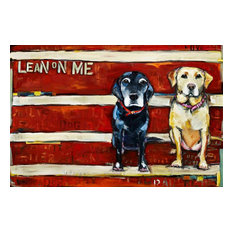 """Lean on Me"" Painting Print on Canvas by Tori Campisi"
