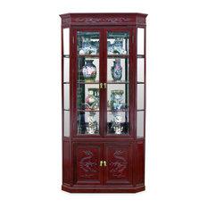 China Furniture and Arts - Rosewood Dragon Corner Cabinet - Furniture