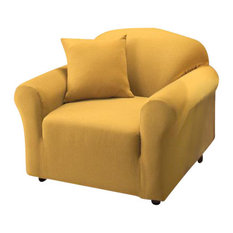 Rouge Spandex Chair Covers Canary Yellow 62516 1pc Pk