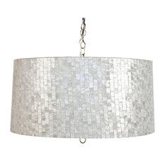 Capiz shell pendant lighting houzz worlds away brick pattern capiz shell pendant small pendant lighting aloadofball Images