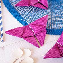 DIY : Créez de ravissants papillons en pliant vos serviettes