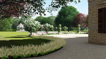 Aménagements extérieur et parc pour un château en Dordogne