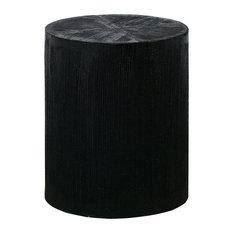 Elk Transitional Jungleroom Stool With Black Finish 7011-1620