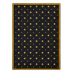 "Joy Carpets Any Day Matinee, Theater Area Rug, Walk Of Fame, 10'9""X13'2"", Black"
