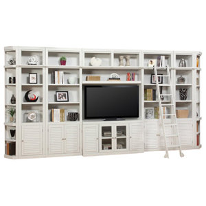Parker House, Boca Extended Library Wall Entertainment Center Bookcase