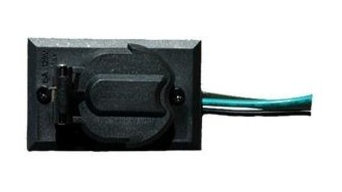 Convenience Outlet For Lamp Post, 120 Volts, Black