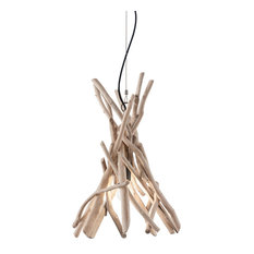 Ideal Lux Driftwood Natural Wood Pendant