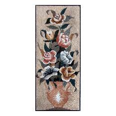 "Mozaico - Mosaic Art, The Arrangement, 23""x56"" - Tile Murals"