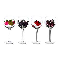 Hand Painted Wine Goblets, 16 oz, 4-Piece Set