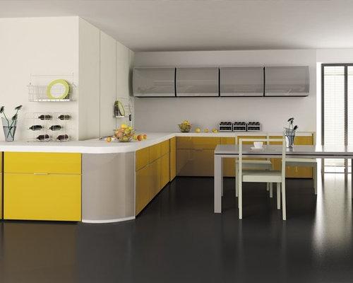 Aluminum frame glass kitchen cabinet doors planetlyrics Image collections