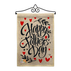 Special Father Day Burlap Summer Father's Day Garden Flag Set