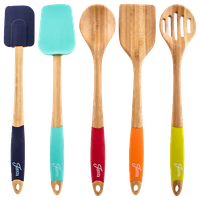 Fiesta 5-Piece Bamboo Silicone Utensil Set