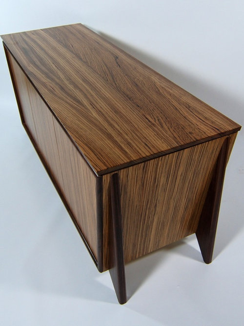 Furniture Tv Console Zebra Wood And Walnut