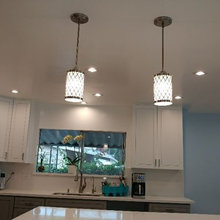 pendant lights in the island