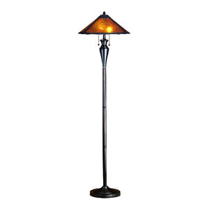 61 Quot Tall Polyresin Floor Lamp With Antique Bronze Finish