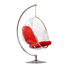 Suspended Ring Chair, Red   Hanging Chairs
