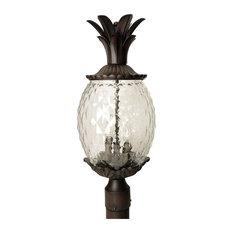 Acclaim Lighting   Lanai Collection Post Mount 3 Light Outdoor Light, Black  Coral