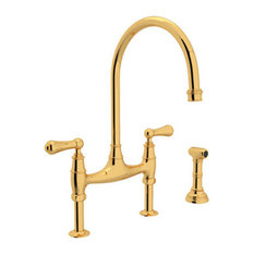 Rohl Bridge Kitchen Faucet in Inca Brass