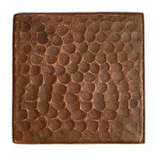 """Hammered Copper Tile, 3""""x3"""", Single"""