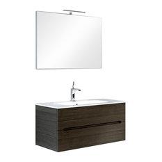 Swing 4-Piece Wall-Mounted Bathroom Vanity Unit, 90 cm