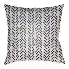 "Textures by Surya Poly Fill Pillow, Beige/Violet/Navy, 18""x18"", TX035-1818"