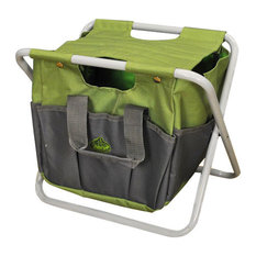 Garden Tool Storage Seat, Green and Grey by Fallen Fruits