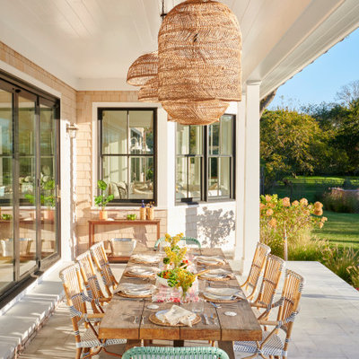 Example of a beach style patio design in Houston