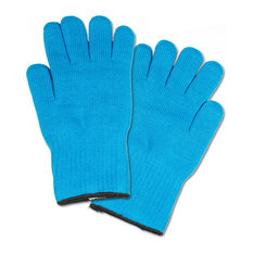 2 Extra Thick Oven Gloves, Heat Resistant Oven Mitt or Pot Holders, Blue Mitts