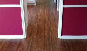 Vinyl plank flooring installed