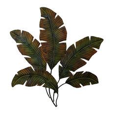 Benzara, Woodland Imports, The Urban Port - Metal Palm Wall Decor With Palm  Tree