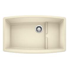 """Blanco 440065 19.5""""x32"""" Granite Single Undermount Kitchen Sink, Biscuit"""