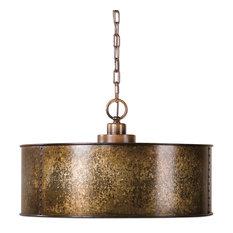 Uttermost Wolcott 3-Light Golden Pendant