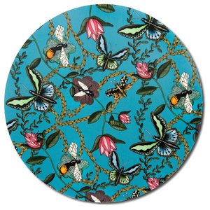 Bugs and Butterflies Turquoise Tray, 46 cm
