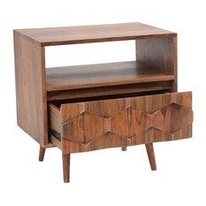 Orianne Mid Century Sheesham Wood Nightstand