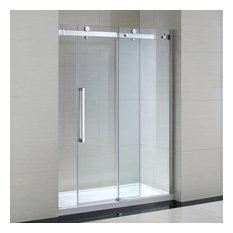 Miseno MSDC6082NB Sliding Shower Door, Chrome/Clear