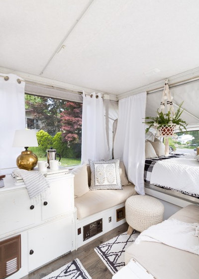Scandinavian A Used Pop Up Camper, A Tight Budget And Chic Scandinavian  Style