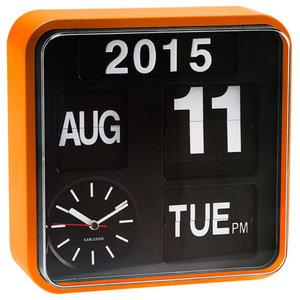 Karlsson Mini Flip Wall Clock, Orange, Orange