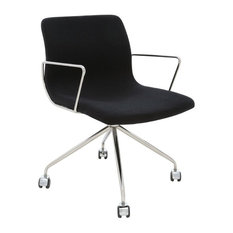 Nuevoliving Alta fice Chair Black fice Chairs