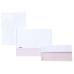 Abigail 3-Piece Cradle Bedding Set, 80x120 cm, Pink