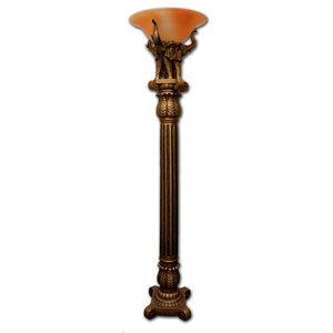 Pacific Coast Lighting Young Maiden Statue Torchiere Floor Lamp Mediterranean Floor Lamps