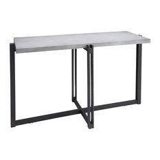 Dakota Console Table With Concrete Finish Top