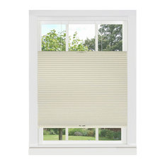 "Top Down-Bottom Up Cordless Honeycomb Cellular Shade, 23""x64"", Alabaster"