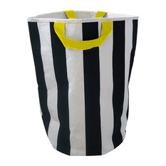 Striped Toy Bag, Yellow Handles