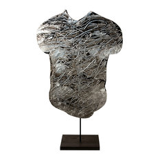 Contemporary Modern Abstract Sculpture, PLATINUM TORSO, by Charles Sabec, 2014.