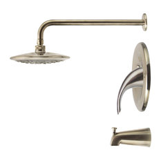 Tub And Shower Faucet Sets Houzz - Brushed nickel tub shower faucet set