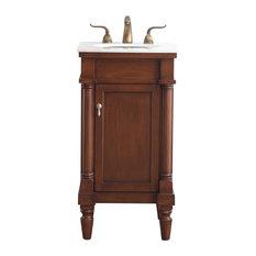 18-inch Single Bathroom Vanity Set Walnut