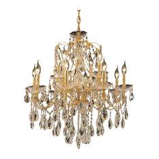 St. Francis 12-Light 2-Tier Chandelier, Gold, Swarovski Strass Crystal