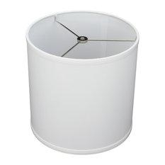 "FenchelShades Drum Lampshade, Linen White 10""x10""x10"""