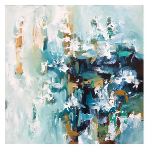 Modern Abstract Art Scandinavian Textured Canvas Painting, 102 x 102 cm